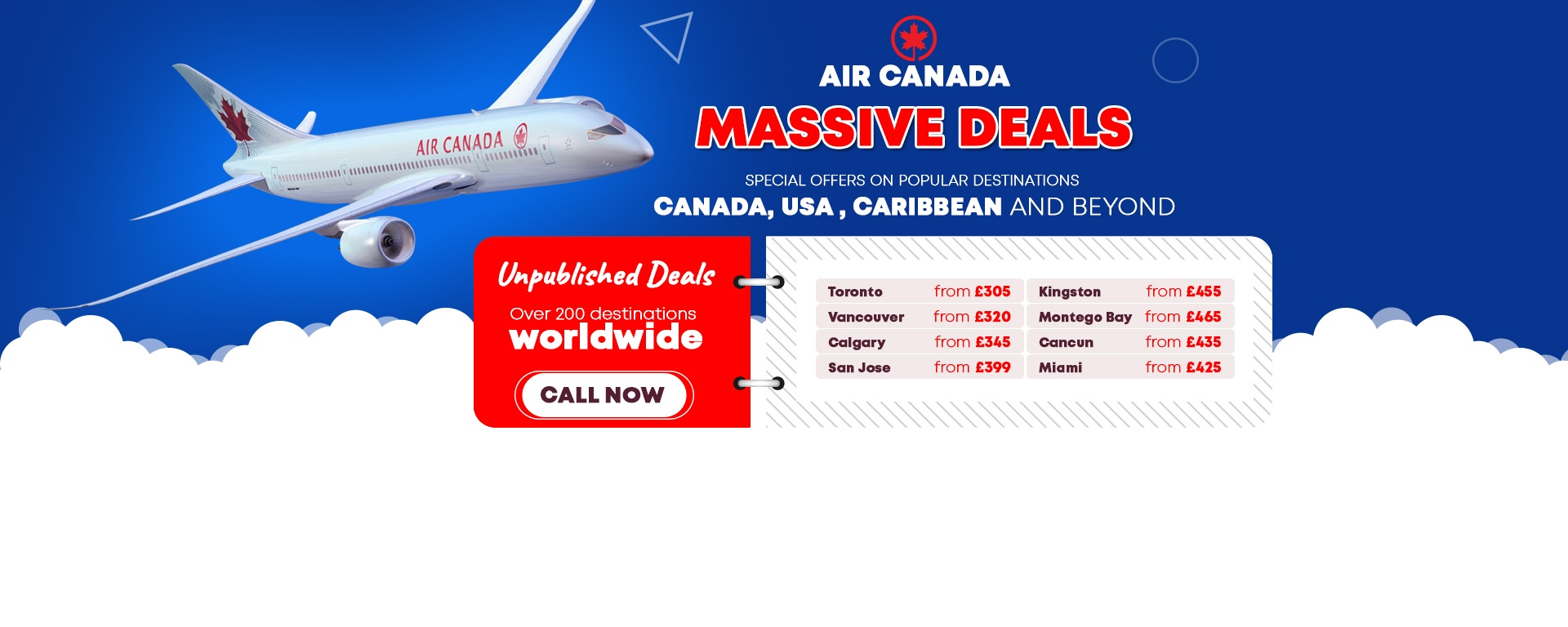 Air Canada Massive Deals